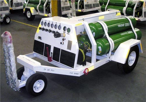 Aircraft Oxygen Servicing Carts (O2 Carts)