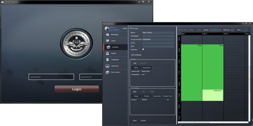 Sample LMS screens.